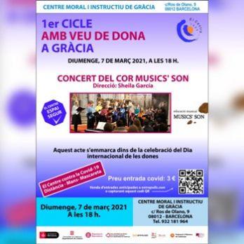 """1er Cicle Amb Veu de Dona a Gràcia: """"Concert del Cor Musics' Son"""""""